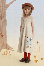 Load image into Gallery viewer, Summer dress for girls printed from belle and boo cream
