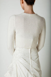 Wedding knit bolero for Brides in autumn and winter