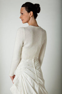 Wedding knit cardigan for Brides made of soft cashmere wool