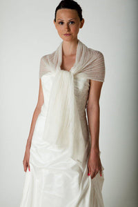 Bridal knit pashmina for wedding dresses ivory