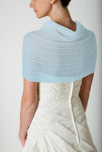 Load image into Gallery viewer, Knit pashmina for your birdal gown in ivory and blush and pale blue