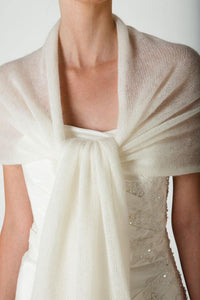 Bridal pashmina for wedding dresses ivory