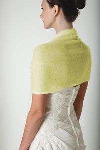 Festive pashmina light yellow for dresses