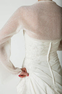 Bridal bolero knitted of cashmere for your bridal gown