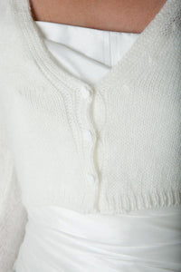 Bridal knit cardigan for Brides made of soft cashmere wool