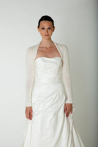 Bridal knit bolero for your wedding white and ivory delivering world wide