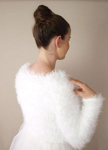 Beemohr bridal knit cotoure with fluffy cosy cardigan
