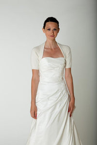 Bridal coverup knitted with angora for your wedding dress