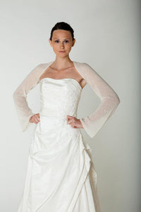 Bridal stole with twist in the back cashmere for your wedding