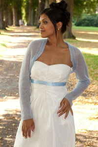 Knit Couture: Wedding bolero knitted for your wedding white, ivory, blush, pale blue, gold, pale brown