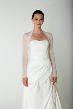 Load image into Gallery viewer, Getting married in a bridal bolero ivory and white for Bridel gowns