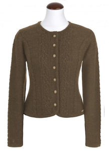 BONN brown from Spieth & Wensky knit jacket for traditional skirts and dresses