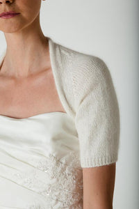 Bridal coverup knitted with angora for your bridal dress