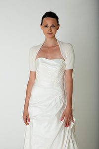 Bridal coverup knitted with angora for your wedding dress in ivory