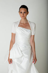 Knit couture: Angora knit jacket white for brides