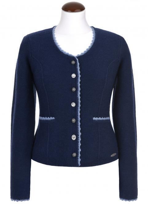 Blue bavarian jacket with knots for your dirndl