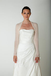 Wedding cashmere jacket knitted for your wedding
