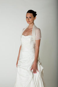 Bridal stole knitted in lace pattern for your bridal gown ivory