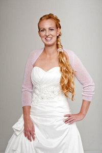 Cashmere knit bolero for brides