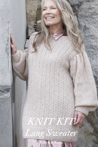 Knit sweater with soft wool in a knit kit order online in corona times