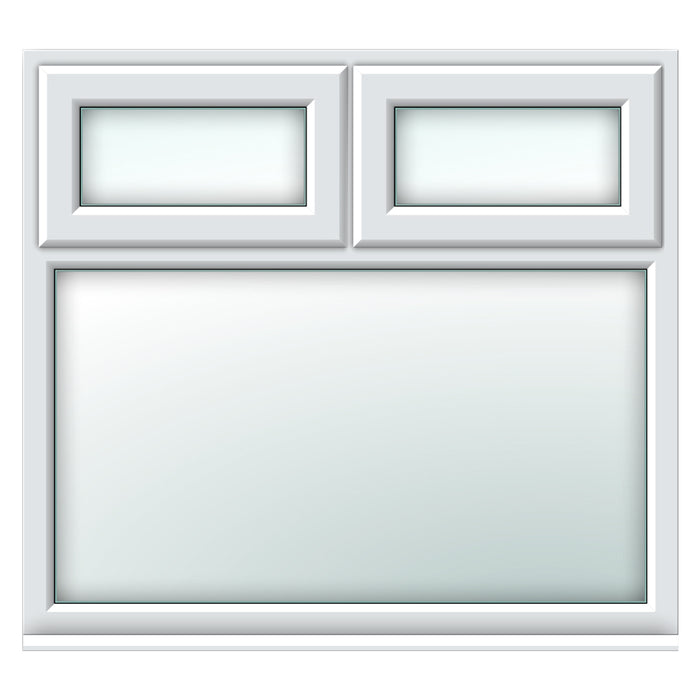 White top hungs over fixed window