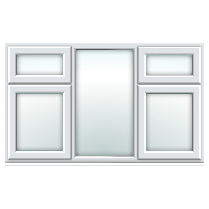 White top over side hung / fixed centre window/top over side hung