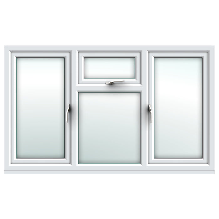 White side hung/ top over fixed / side hung window