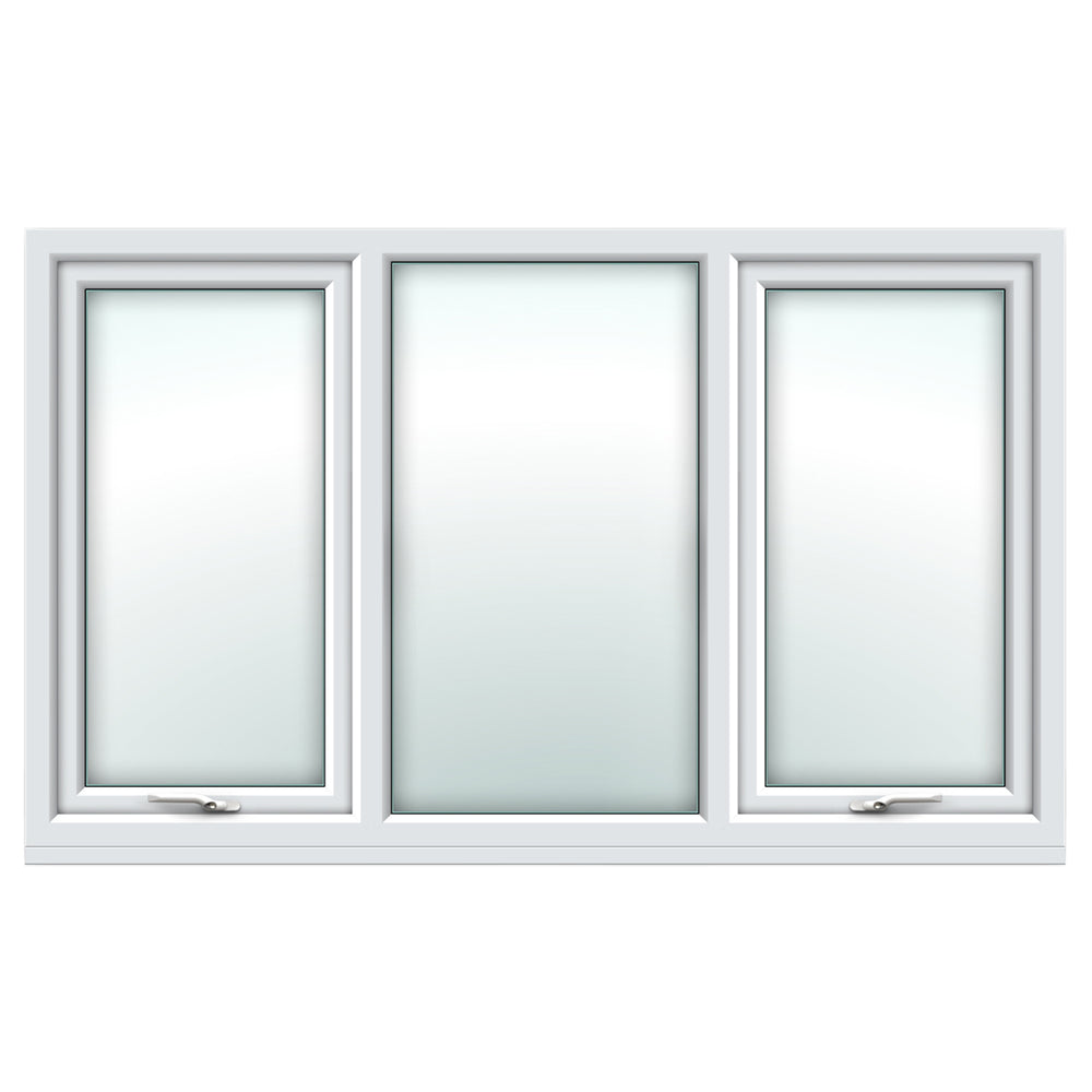 White top hung/fixed/top hung window