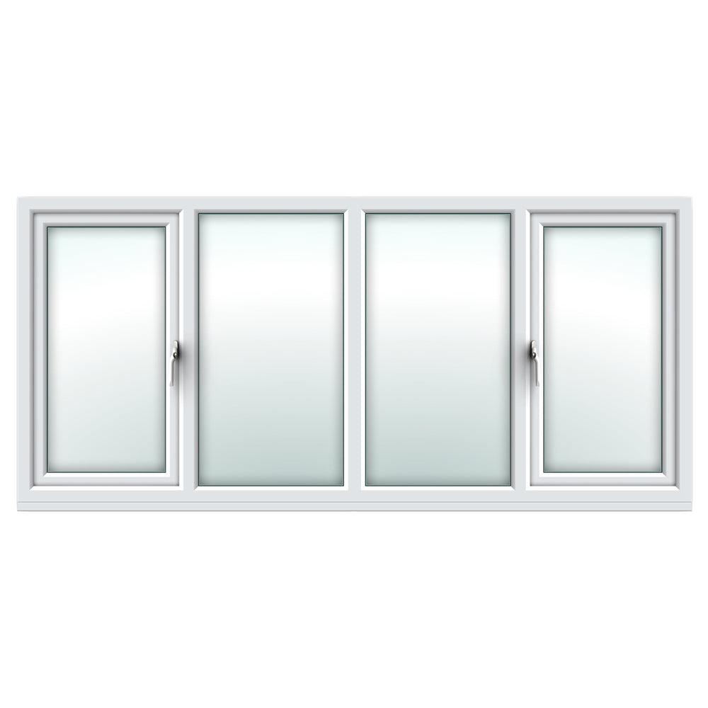 White side hung/fixed/fixed/side hung window
