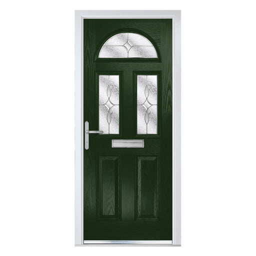 Riviera Green Composite door with Flair glass