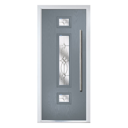 Vilamoura contemporary Composite door with Flair glass