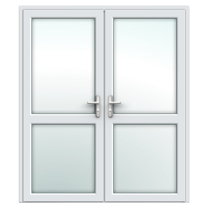 White French door with midrails