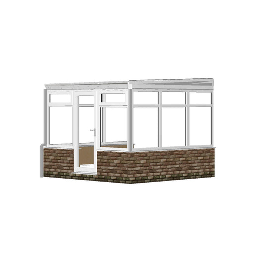 Lean to Conservatory with Low Pitch POLY ROOF