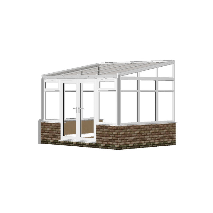 Lean to Conservatory with GLASS ROOF