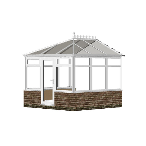 Edwardian Conservatory with GLASS ROOF