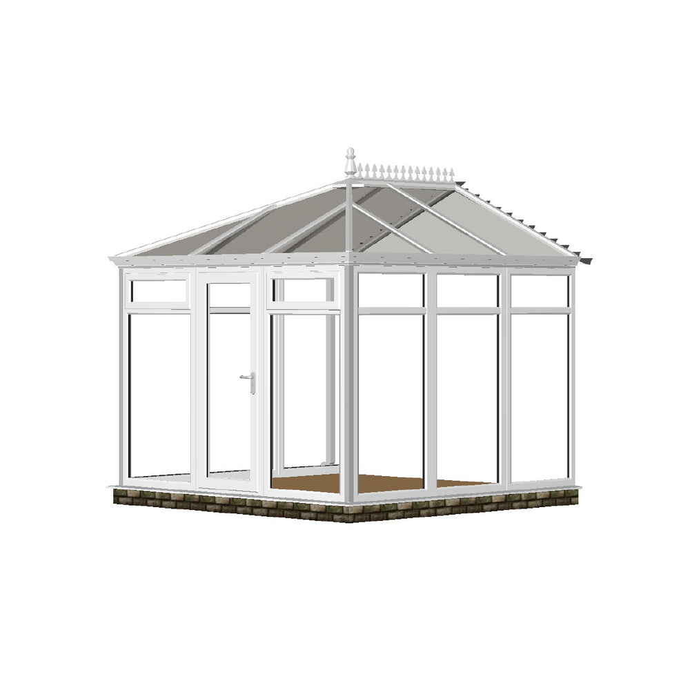 Full height Edwardian Conservatory with GLASS ROOF