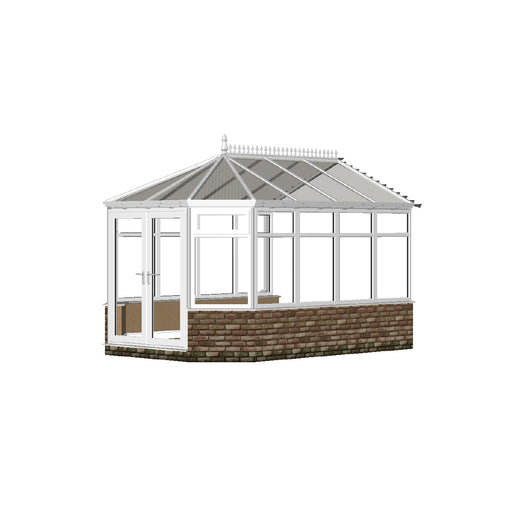 Stretched Victorian Conservatory with GLASS ROOF