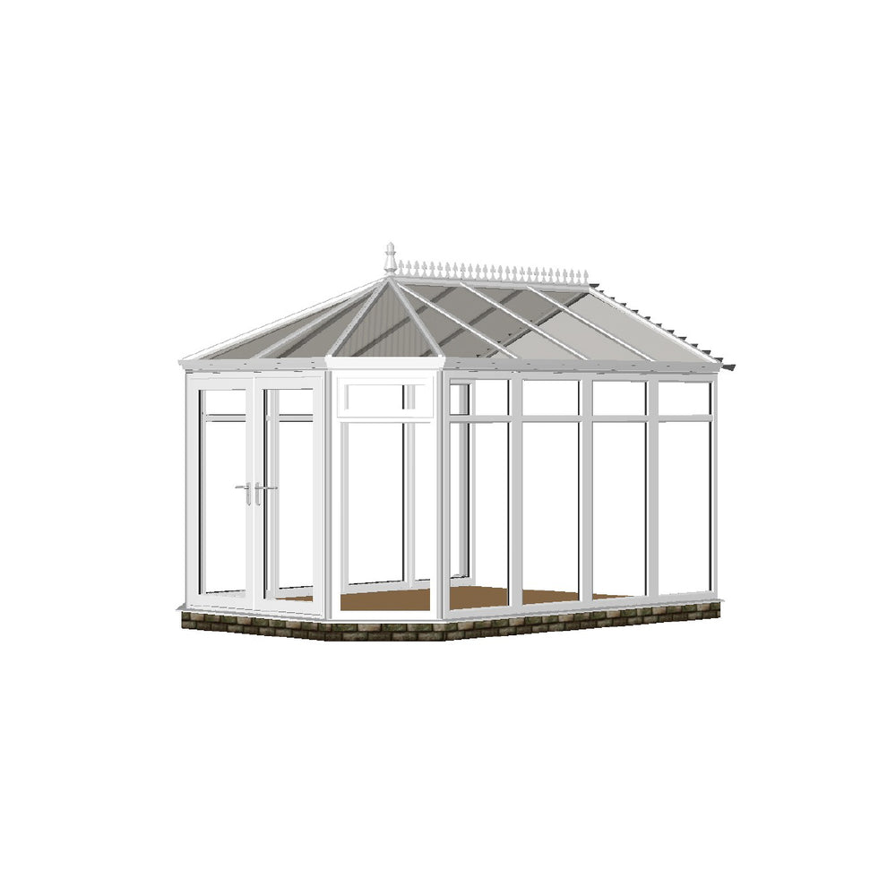 Full height Stretched Victorian Conservatory with GLASS ROOF