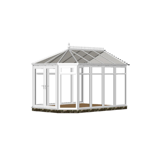 Full height Stretched Victorian Conservatory with POLY ROOF