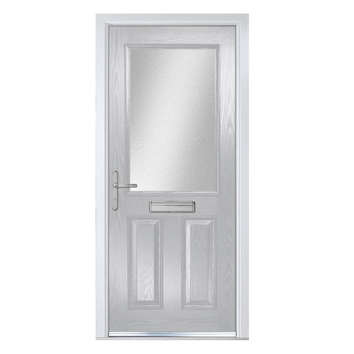 Lytham white Composite door with Obscure glass
