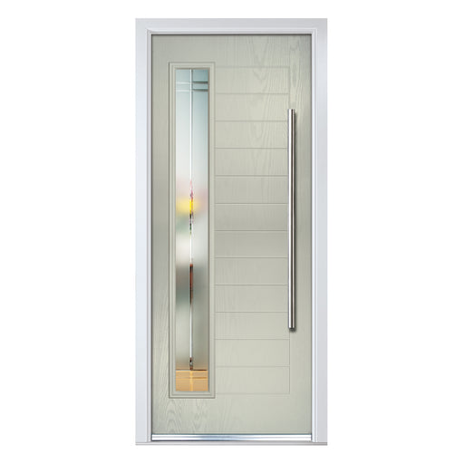 Monza contemporary Composite door with Liniar glass