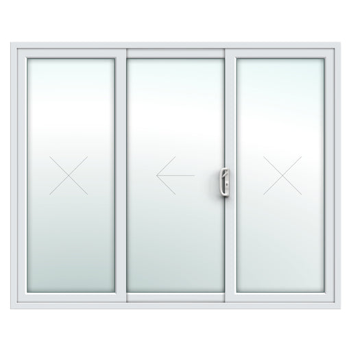 3 Pane Patio Door - White