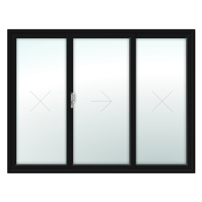3 Pane Patio Door - Foiled on white