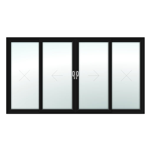 4 Pane Patio Door - Foiled on white