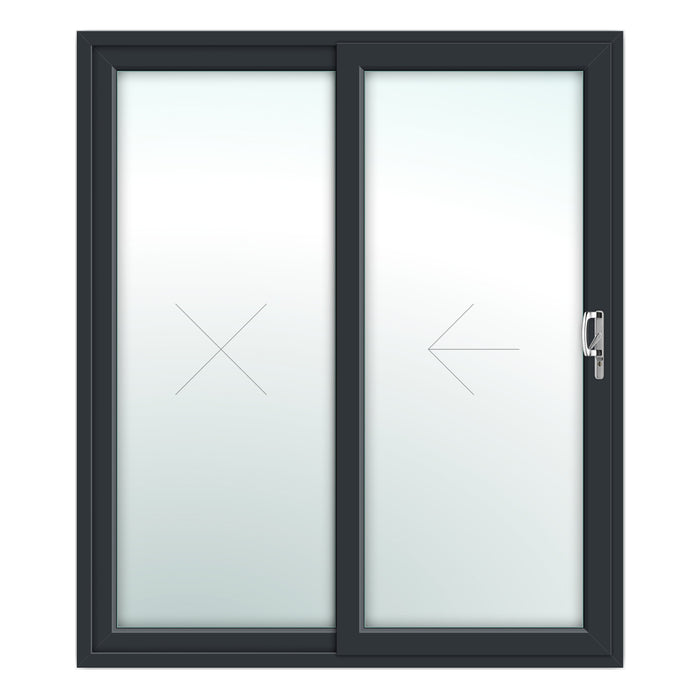 2 Pane Patio Door - Foiled both sides