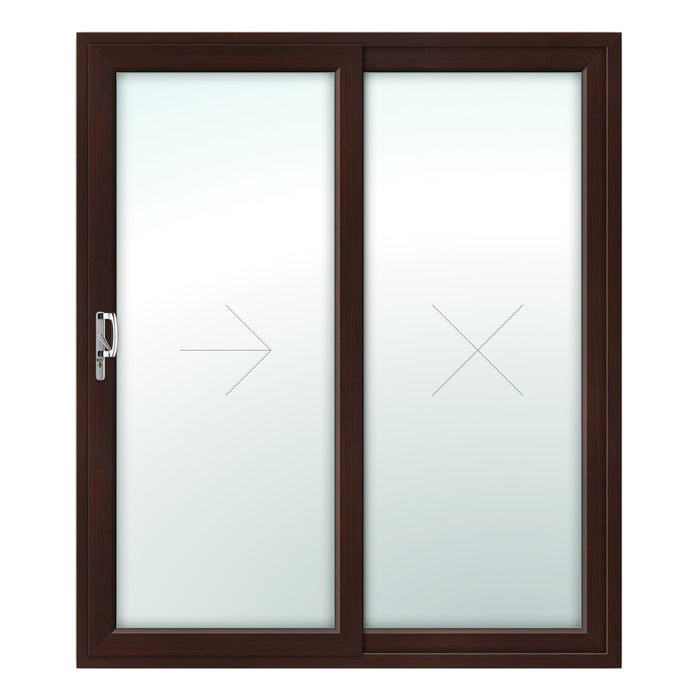 2 Pane Patio Door - Foiled on white