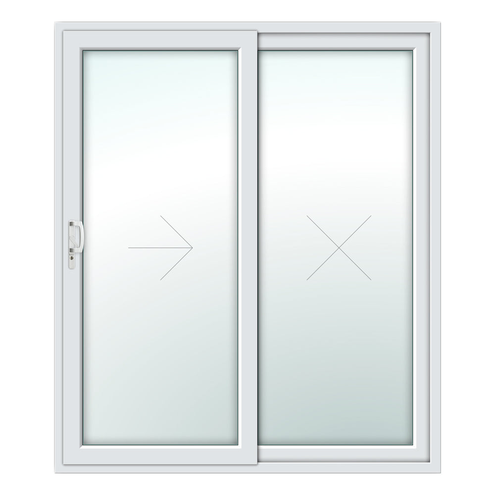 2 Pane Patio Door - White (BW142208)