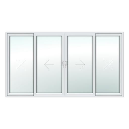 4 Pane Patio Door - White