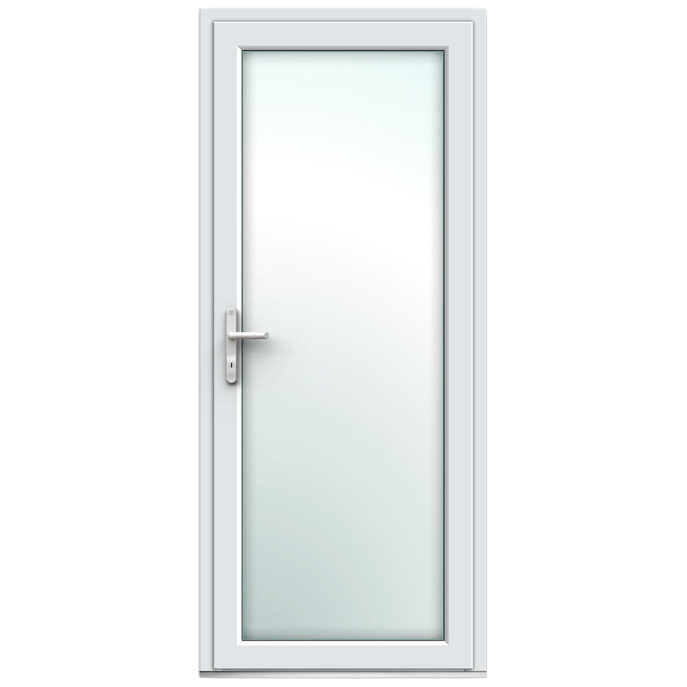 White Full Resi Door