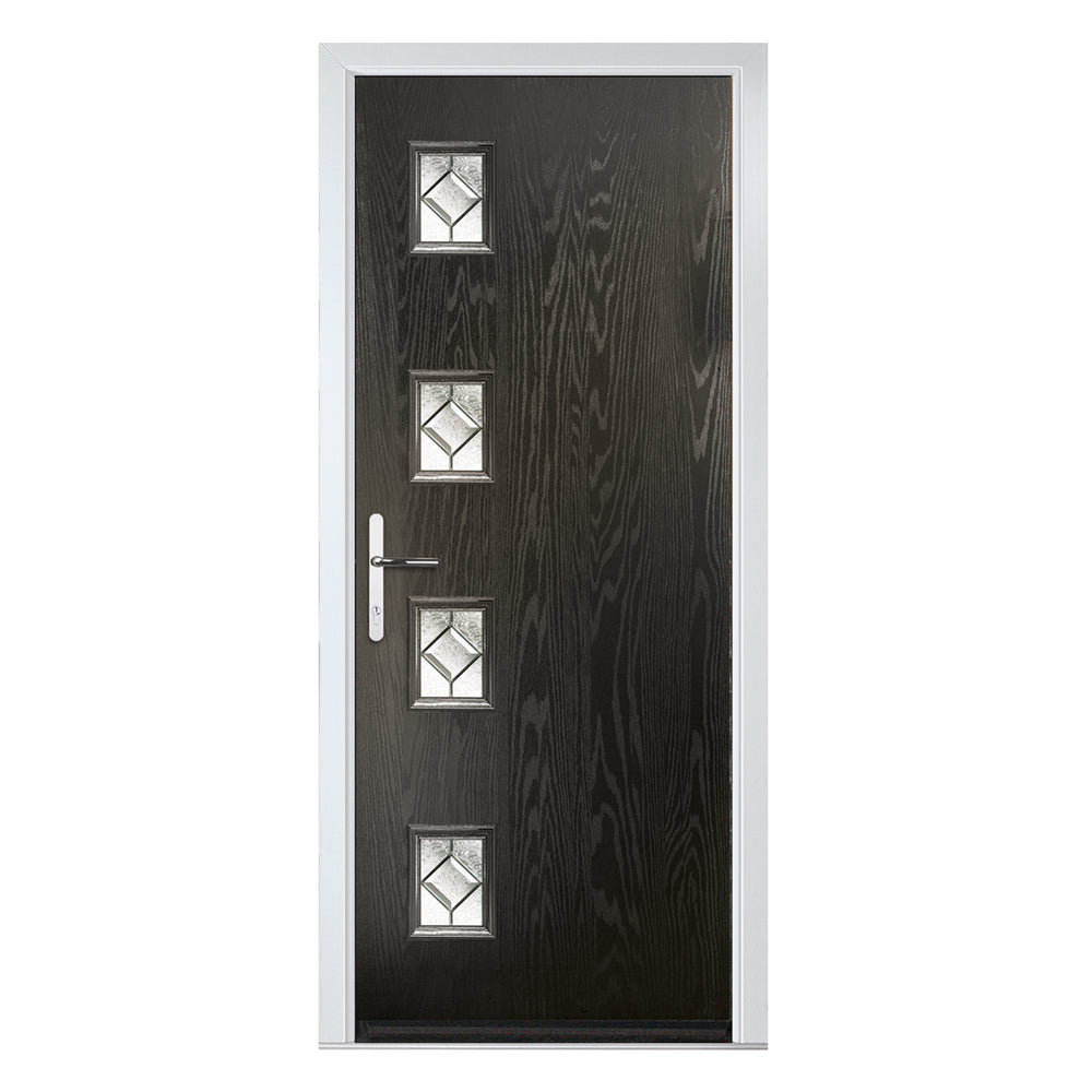 Seminole Flush Composite door with Simplicity glass